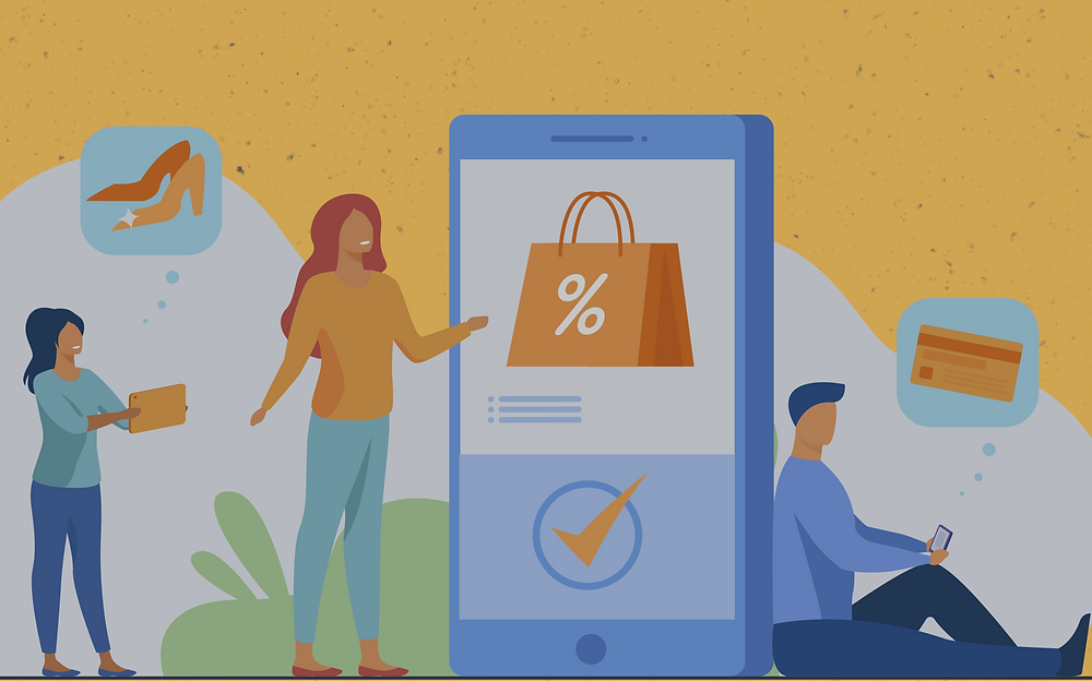 users shopping online