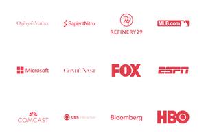 Telly Awards Past Winners, Fox logo, Microsoft Logo, ESPN logo, COMCAST logo, CBS logo, HBO logo
