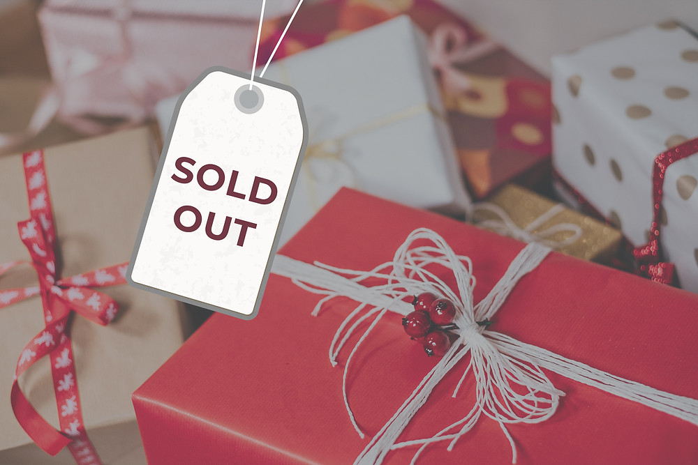 Christmas Red, White, Craft Presents and Sold Out Tag