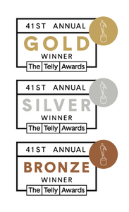 Telly Awards prizes, silver, gold, bronze badges