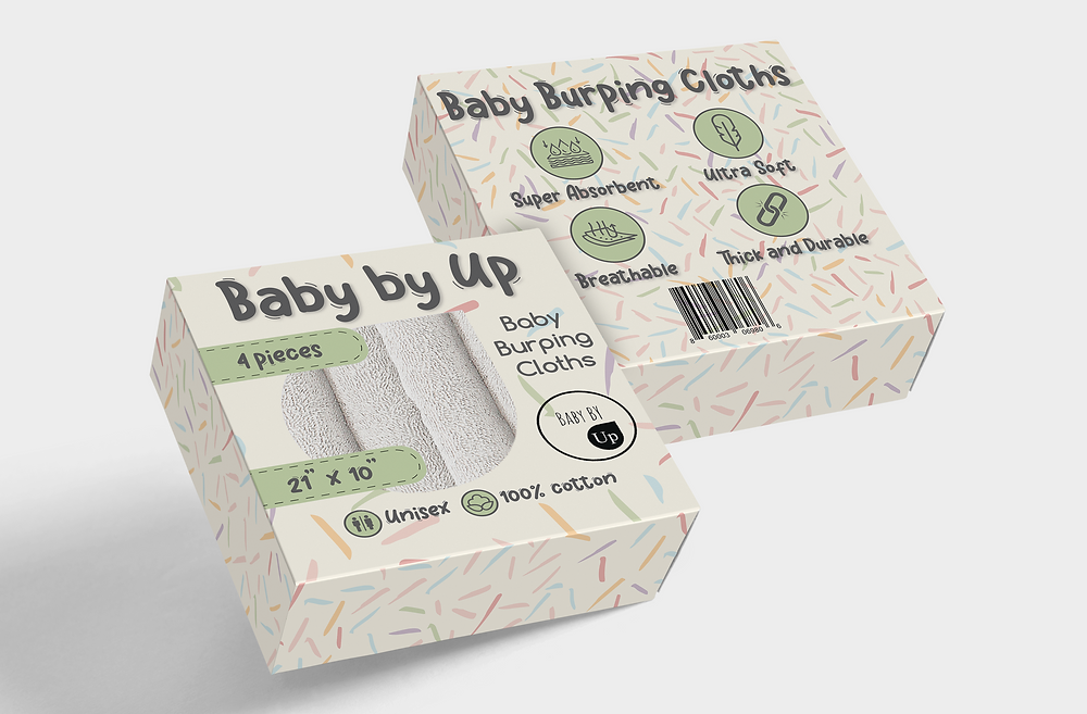package design for baby burping cloths