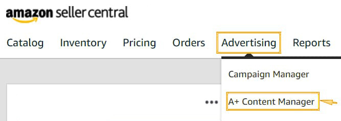 Amazon's Seller Central Menu