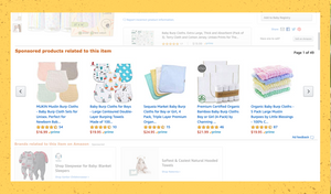 Amazon Baby Burp Cloths Listing Ads