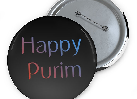 Happy Purim Pins Buttons