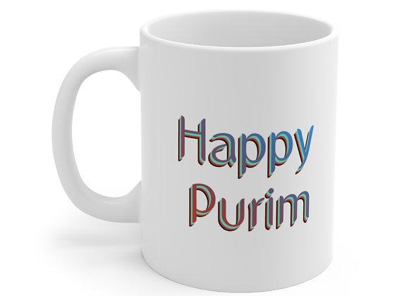 Happy Purim - Plain - Ceramic Mug 11oz