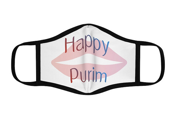Happy Purim Fitted Polyester Face Mask