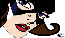Batgirl Drawing with logo