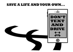 Don't Text And Drive Sticker