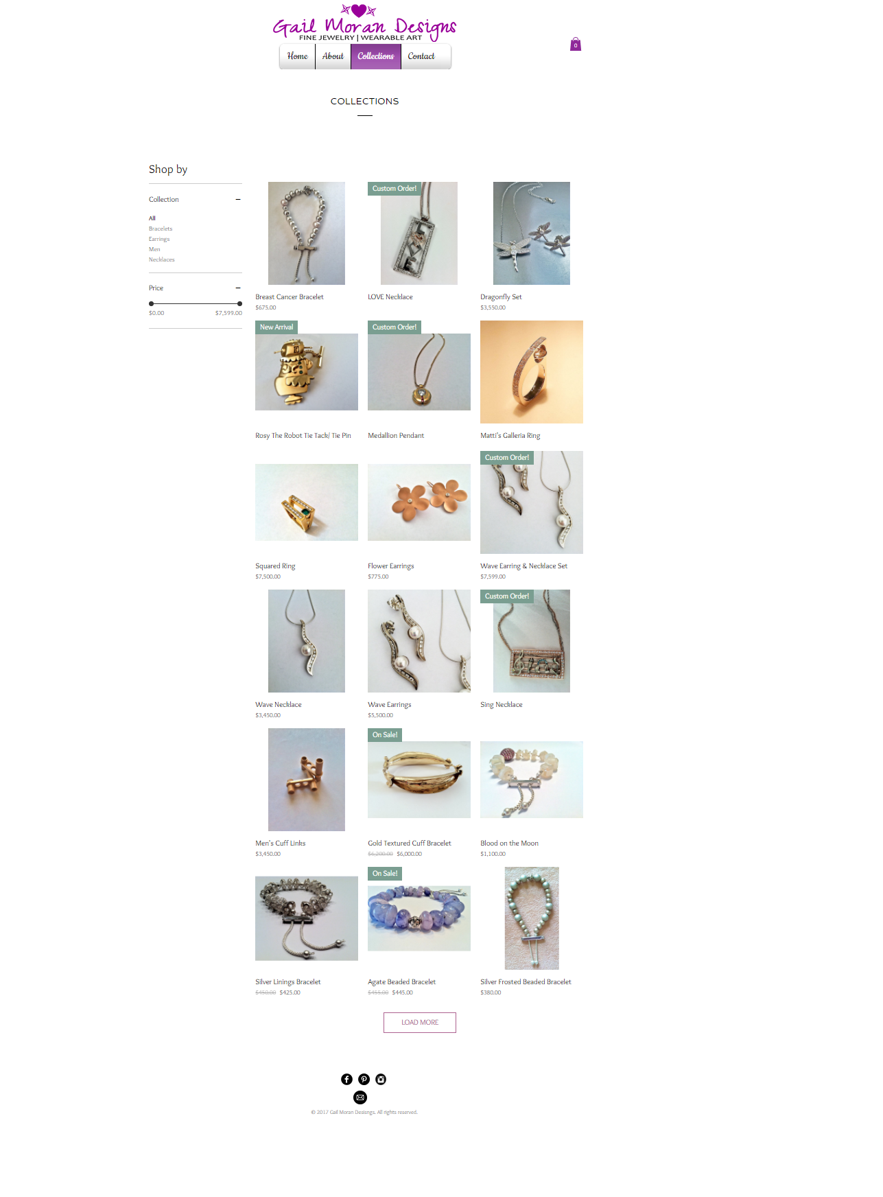 Gail Moran Designs Website- Collections
