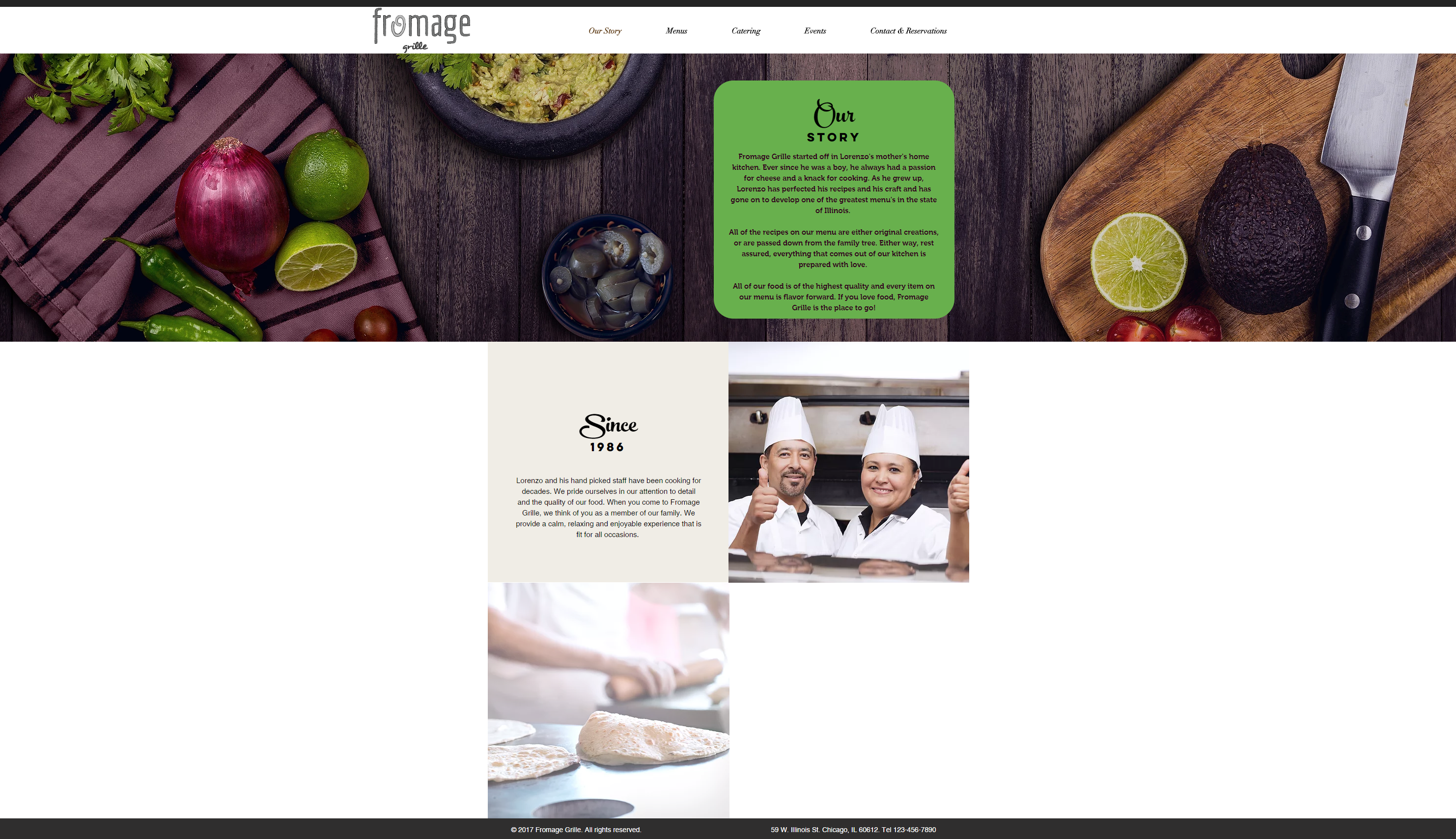 Fromage Grille Website-Our Story
