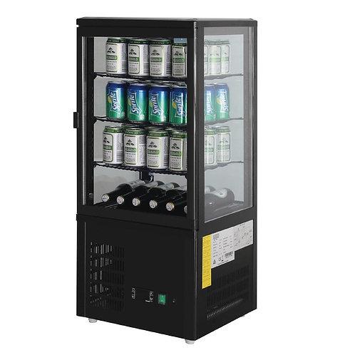 Polar Chilled Display Cabinet Black - 68Ltr