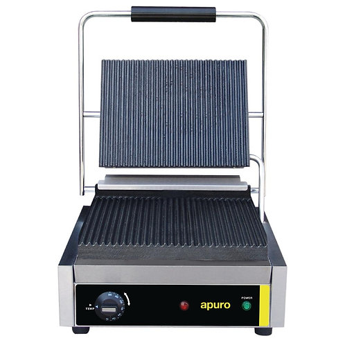 Apuro Bistro Contact Grill - Ribbed Plates