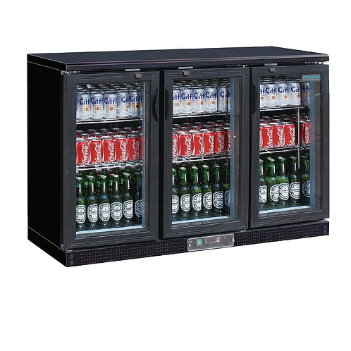 Polar Triple Hinged Door Back Bar Chiller 870mmH - AUS PLUG