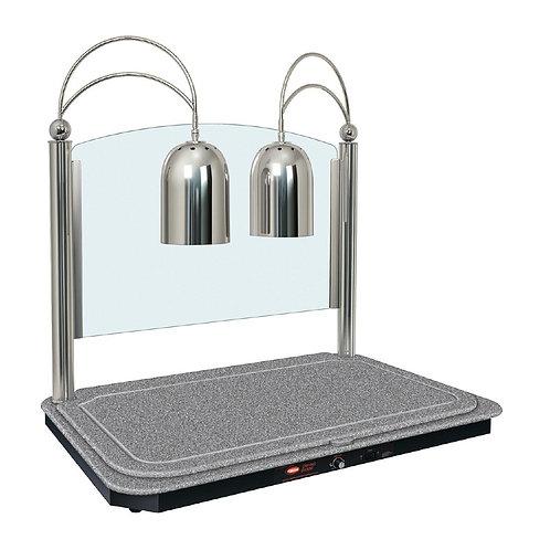 Hatco - Dual Heat Lamp & Swanstone Heated Base