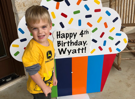 4th Birthday Sign Rental