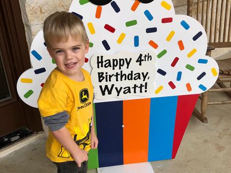 4th Birthday Sign Rental