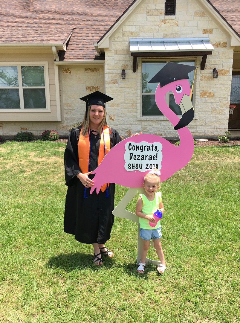 Graduation Flamingo