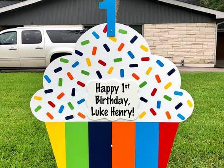 First Birthday Yard Sign ~ Bryan, TX