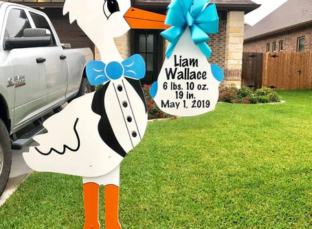 Birth Announcement Stork Rental ~ College Station, TX