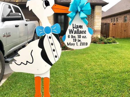 Birth Announcement Stork Rental ~ College Station, TX