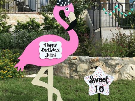 Sweet 16 Birthday Yard Sign Rental ~ College Station, TX