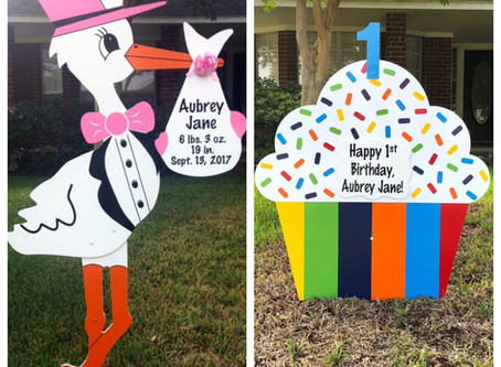 1st Birthday Yard Sign ~ College Station, TX