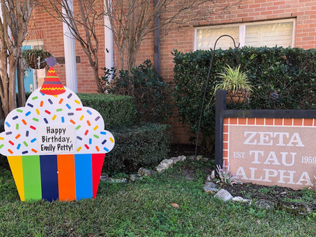 Birthday Yard Sign Rental ~ Huntsville, TX
