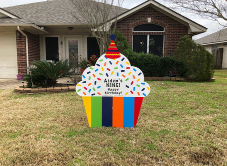 Birthday Yard Sign Rental ~ College Station, TX