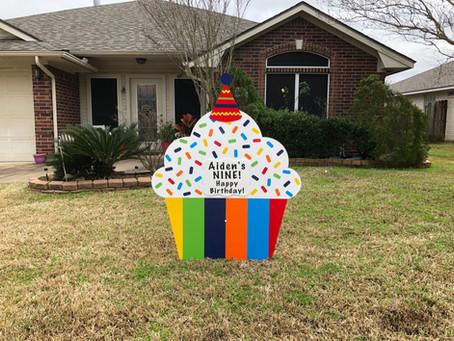 Birthday Yard Sign Rental ~ College Station, TX