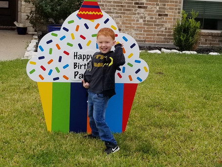 4th Birthday Lawn Sign Rental ~ College Station, TX