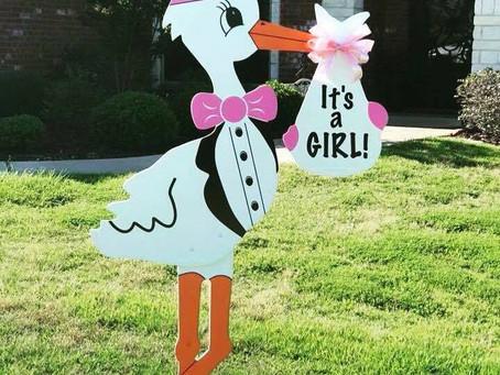 Baby Shower Stork Sign ~ Madisonville, TX
