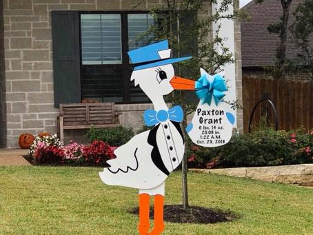 Stork Yard Sign Rental ~ College Station, TX
