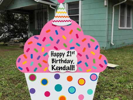 21st Birthday Yard Sign ~ College Station, TX