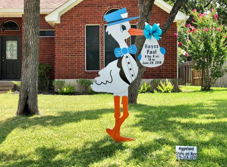 Stork Sign Rental Door Prize