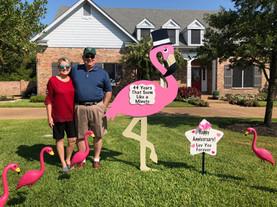 Flamingo Anniversary Sign