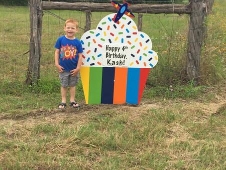 Happy Birthday Yard Sign ~ Bryan, TX