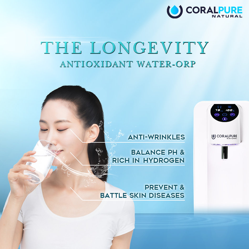 Coral Pure Water Filter Alkaline Water Hydrogen Purifiers Antioxidant TDS Rich in Hydrogen Longevity Antioxidant