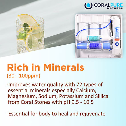 Harmful effects of flouride Coral Pure Water Filter Alkaline Water Hydrogen Purifiers Antioxidant TDS Rich in Minerals