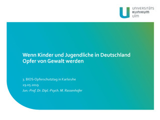 Wenn Kinder und Jugendliche in Deutschland Opfer von Gewalt werden