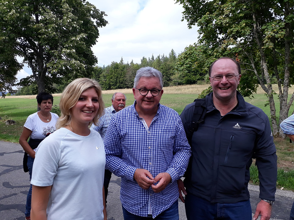 Lisa Bux, Justizminister Guido Wolf, Dr. Dirk Bruder, BIOS-BW e.V., Wandersommer