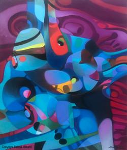 Peinture contemporaine - Dog