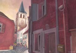 Rue de l'église à Andresy (78)