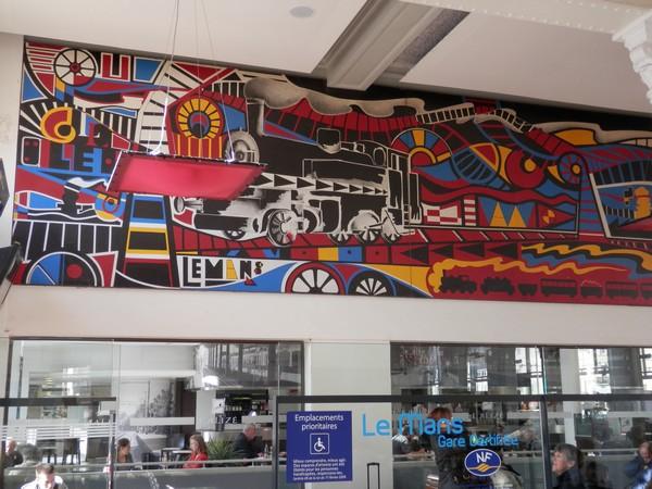 Fresque de la gare du Mans