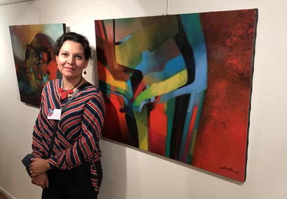 Exposition à la galerie Sonia Monti.