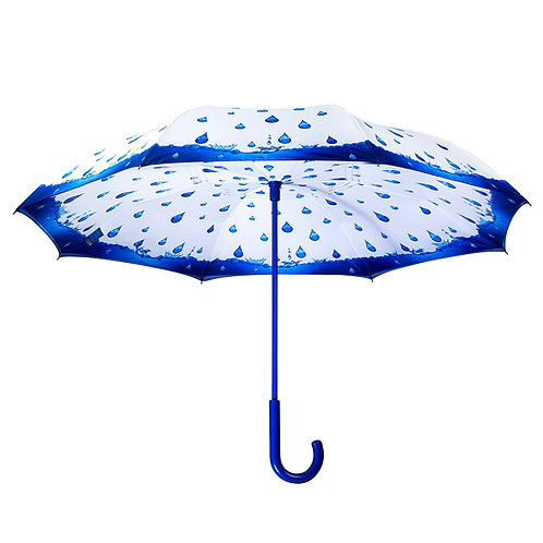 Rainy Season Stick Umbrella Reverse Close
