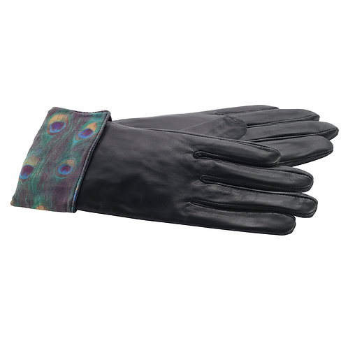 Peacock Leather Gloves-Small