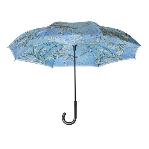 Van Gogh Almond Blossom Stick Umbrella Reverse Close