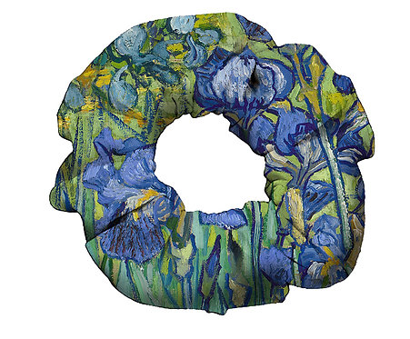 Van Gogh Irises Scrungee