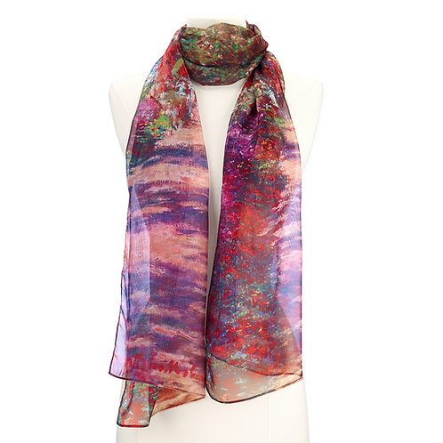 Monet, A Pathway in Monet's Garden Scarf