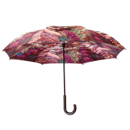 Monet, A Pathway in Monet's Garden Stick Umbrella Reverse Close